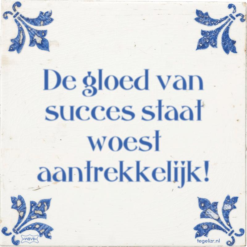 De gloed van succes staat woest aantrekkelijk! - Online tegeltjes bakken