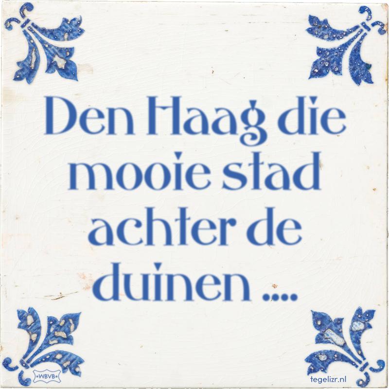 Den Haag die mooie stad achter de duinen .... - Online tegeltjes bakken