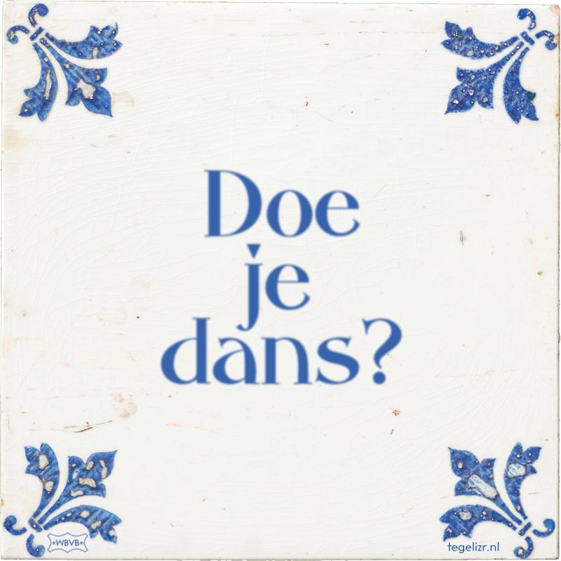 Doe je dans? - Online tegeltjes bakken