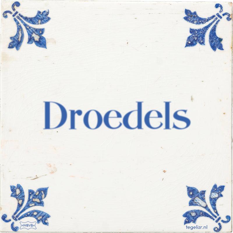 Droedels - Online tegeltjes bakken