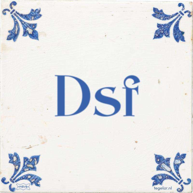 Dsf - Online tegeltjes bakken