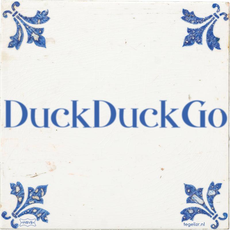 DuckDuckGo - Online tegeltjes bakken