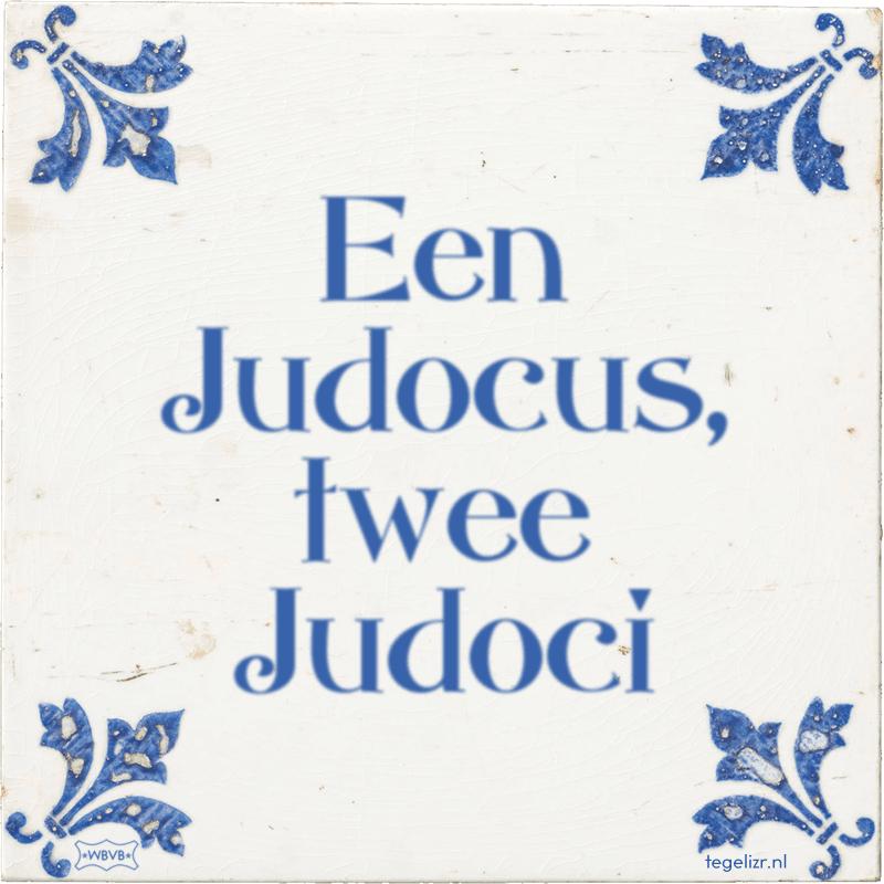 Een Judocus, twee Judoci - Online tegeltjes bakken