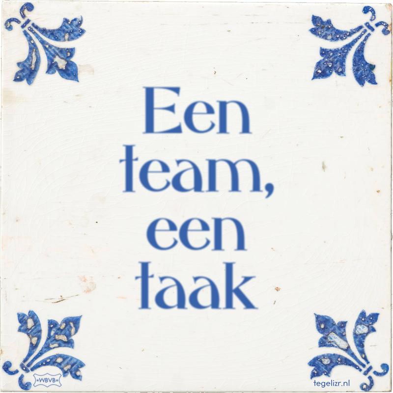 Een team - een taak - Online tegeltjes bakken