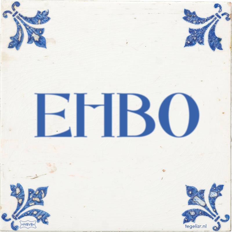 EHBO - Online tegeltjes bakken