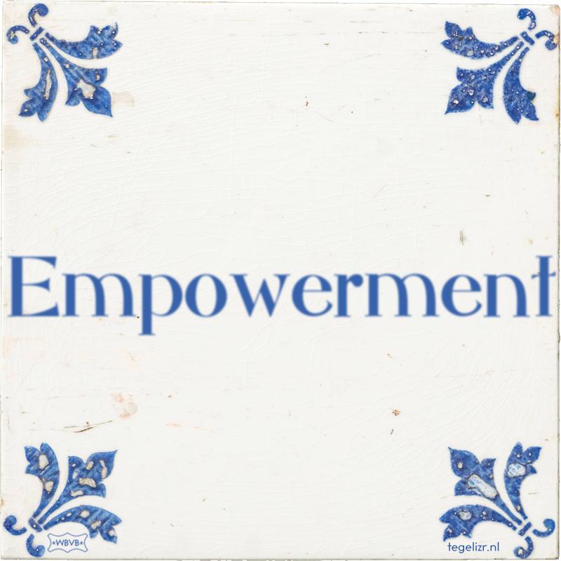 Empowerment - Online tegeltjes bakken