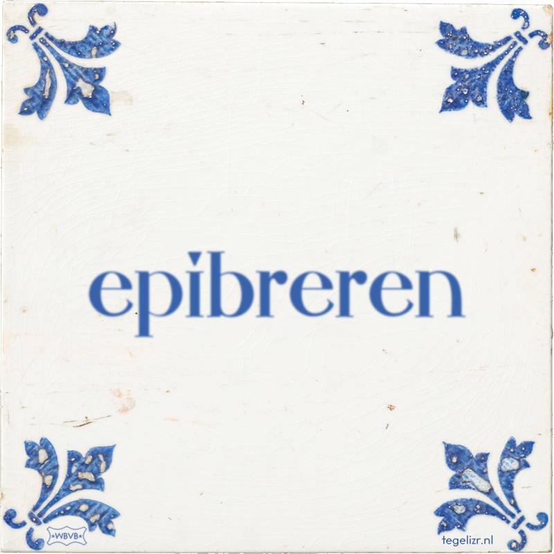 epibreren - Online tegeltjes bakken