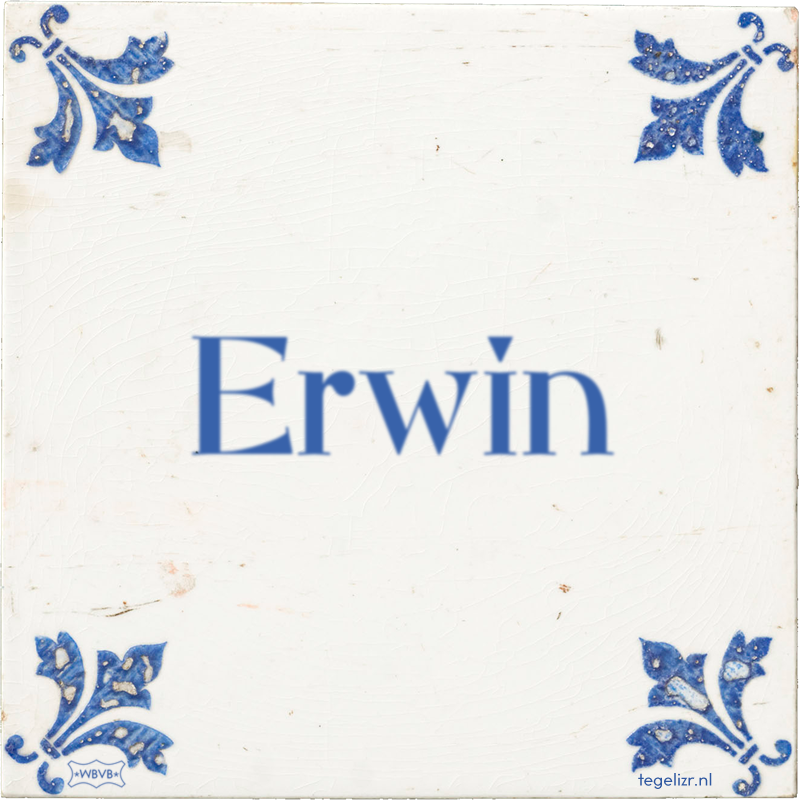 erwin - Online tegeltjes bakken