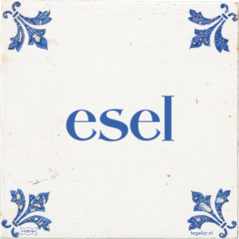 esel - Online tegeltjes bakken