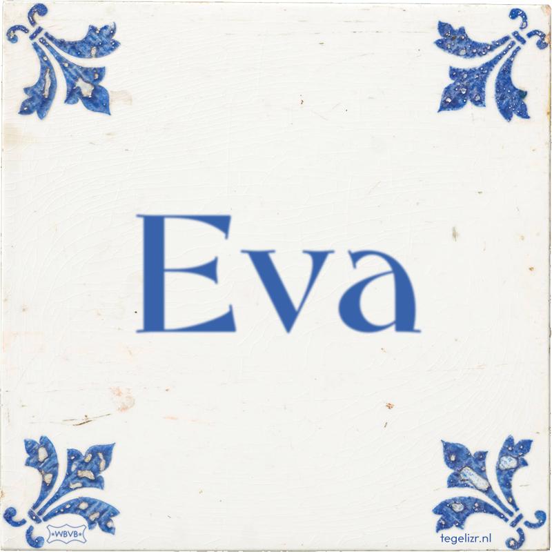 Eva - Online tegeltjes bakken