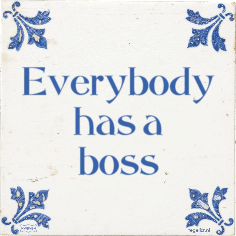 Everybody has a boss - Online tegeltjes bakken