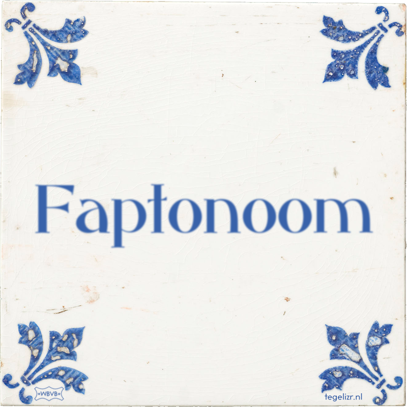 Faptonoom - Online tegeltjes bakken