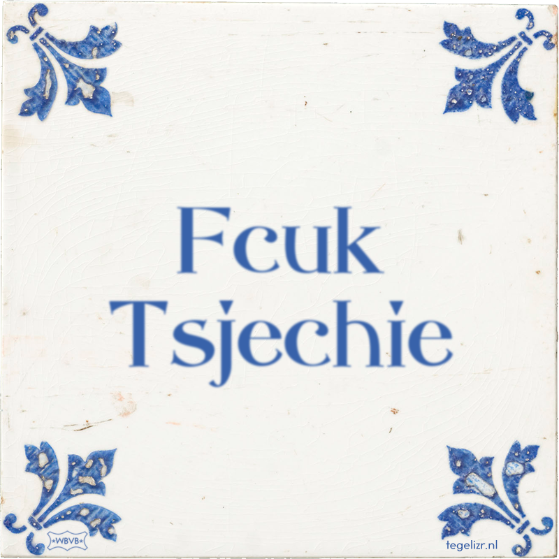 Fcuk Tsjechie - Online tegeltjes bakken