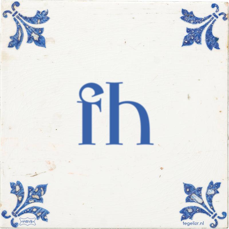 fh - Online tegeltjes bakken