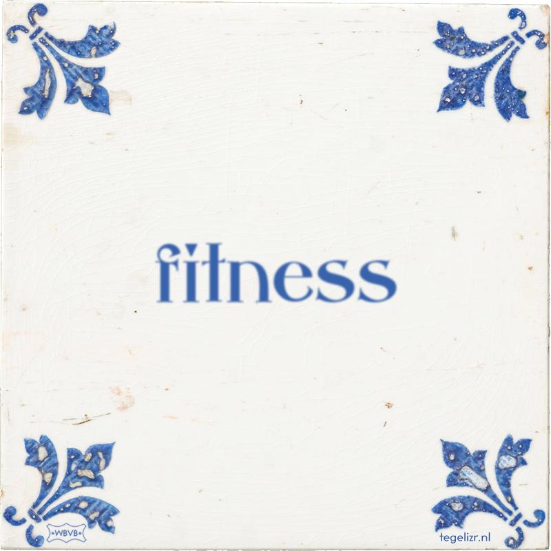 fitness - Online tegeltjes bakken