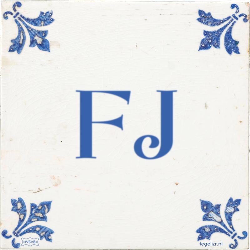 FJ - Online tegeltjes bakken
