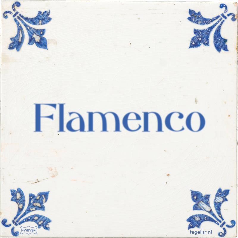 Flamenco - Online tegeltjes bakken