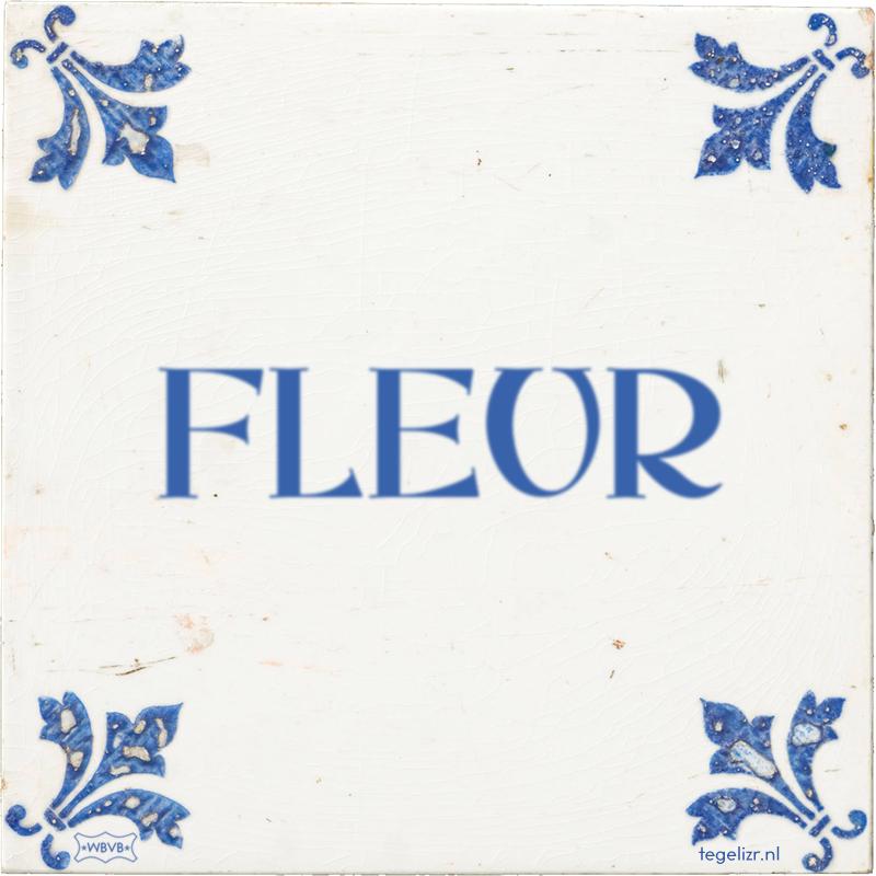 FLEUR - Online tegeltjes bakken