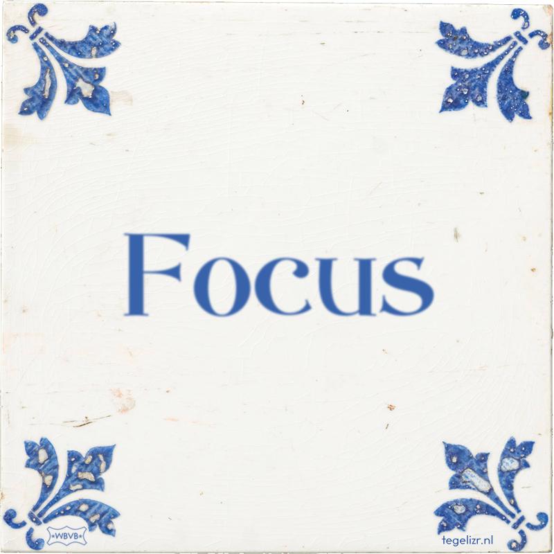 Focus - Online tegeltjes bakken
