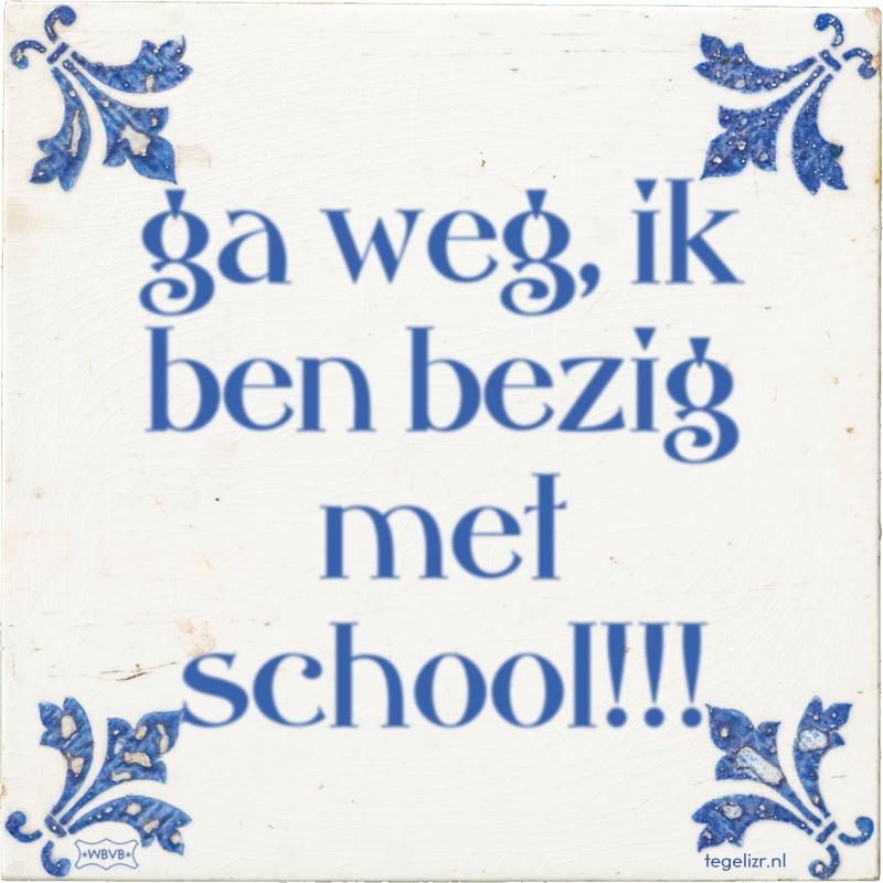 ga weg, ik ben bezig met school!!! - Online tegeltjes bakken