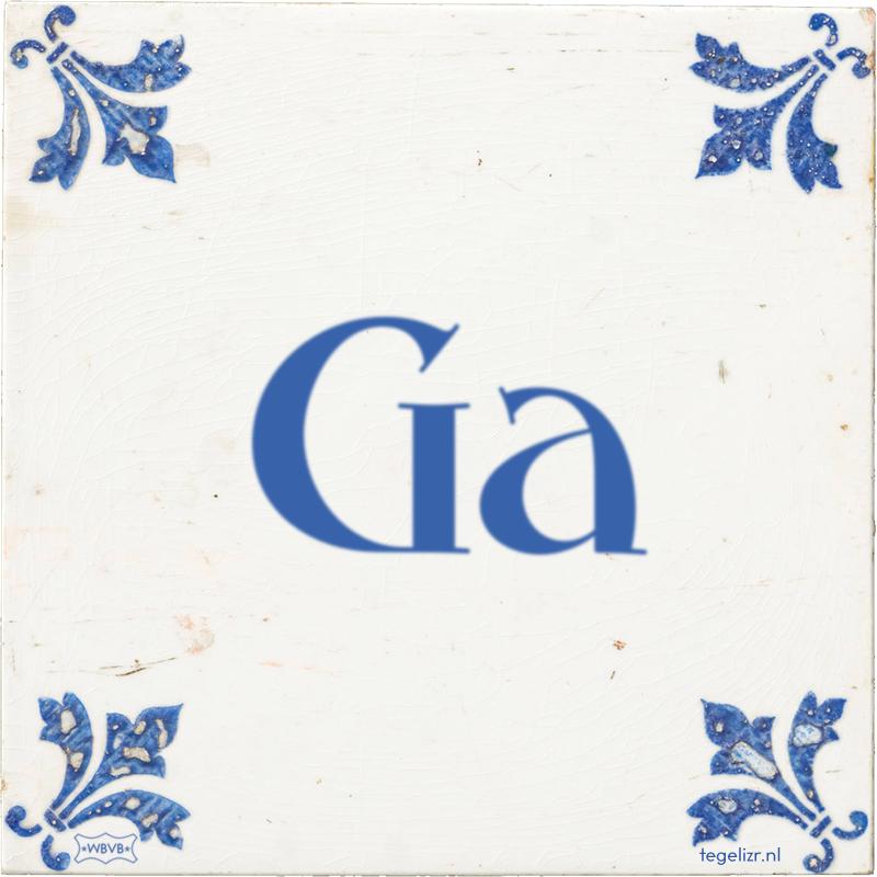 Ga - Online tegeltjes bakken