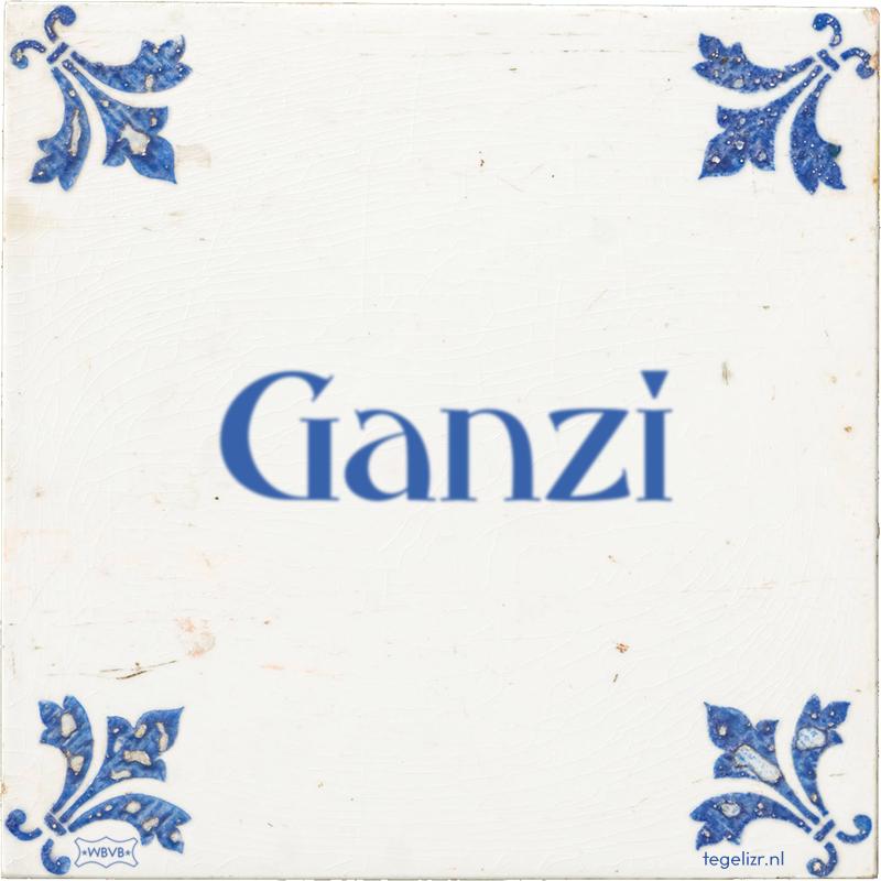 Ganzi - Online tegeltjes bakken