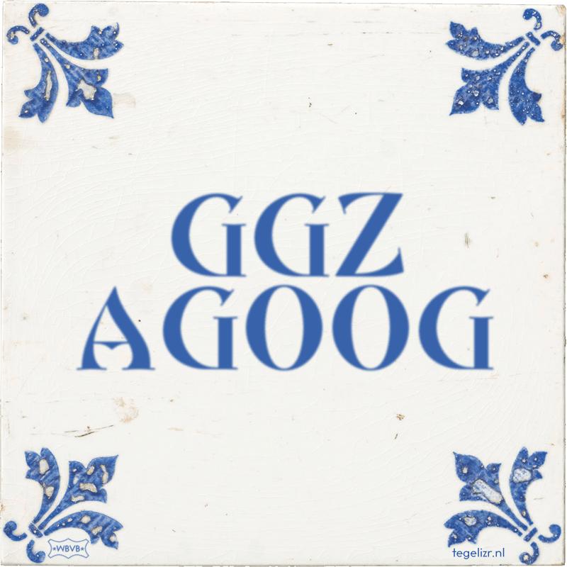 GGZ AGOOG - Online tegeltjes bakken