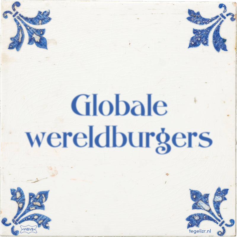 Globale wereldburgers - Online tegeltjes bakken