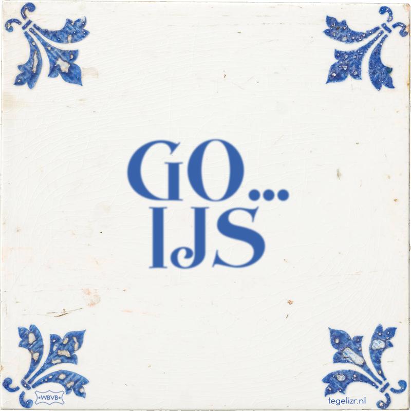 GO... IJS - Online tegeltjes bakken