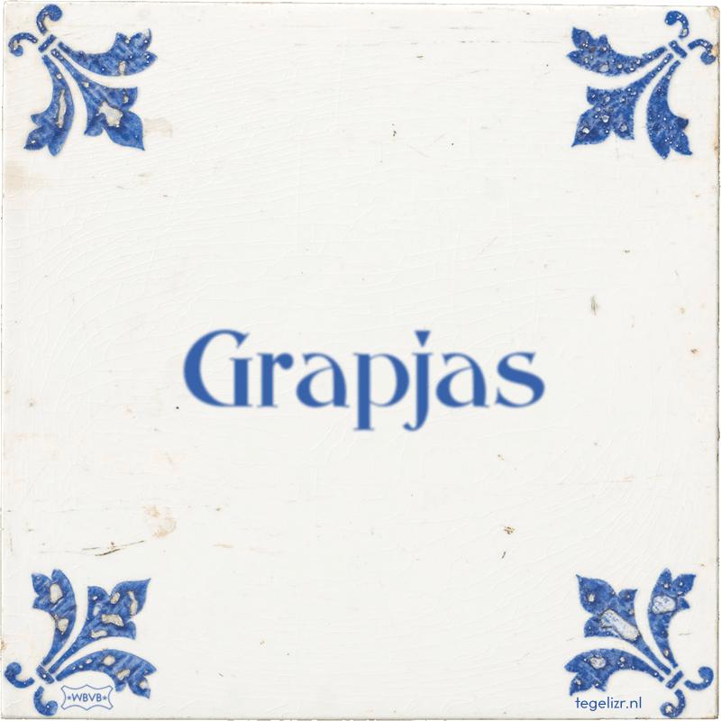 Grapjas - Online tegeltjes bakken