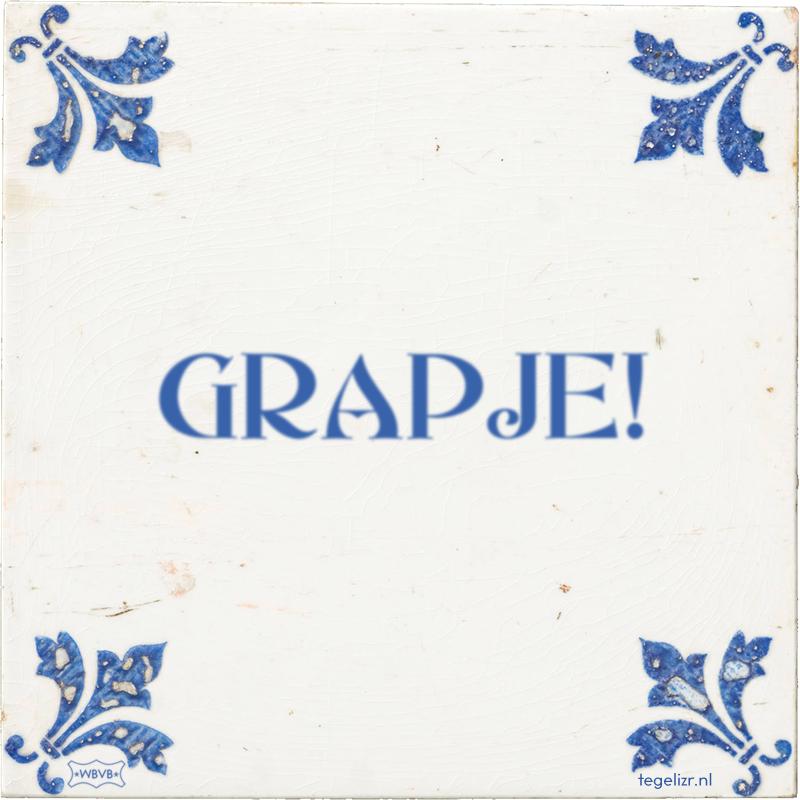 GRAPJE! - Online tegeltjes bakken
