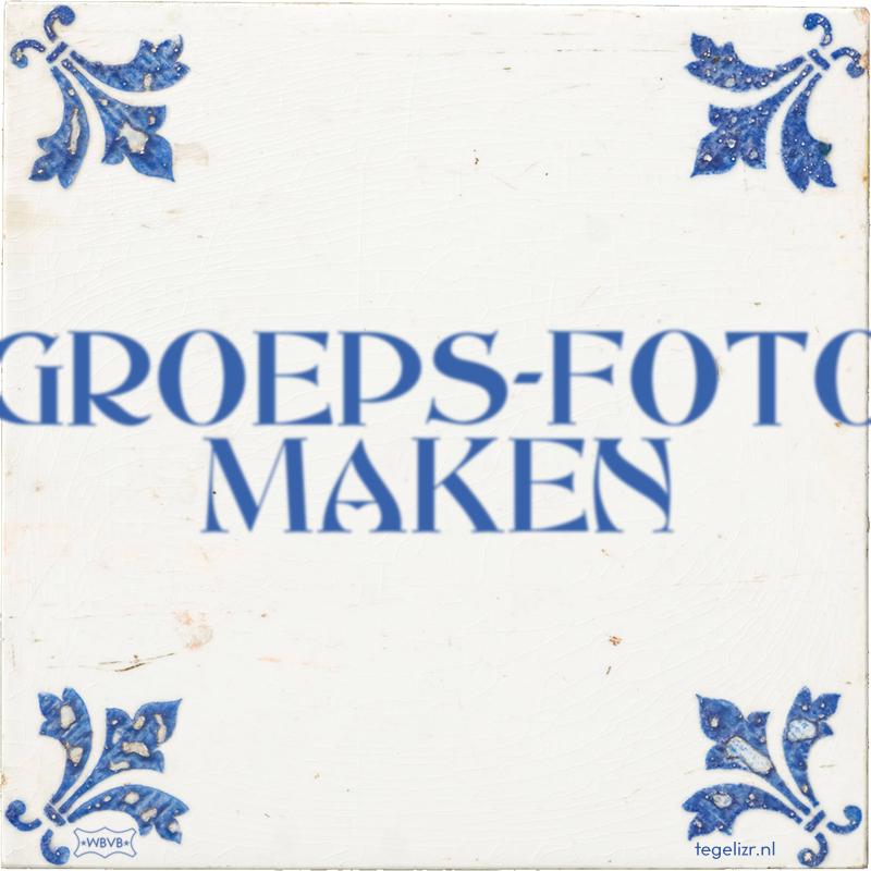 GROEPS-FOTO MAKEN - Online tegeltjes bakken