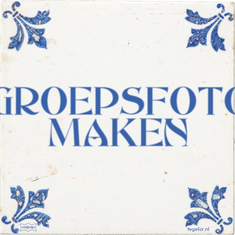 GROEPSFOTO MAKEN - Online tegeltjes bakken