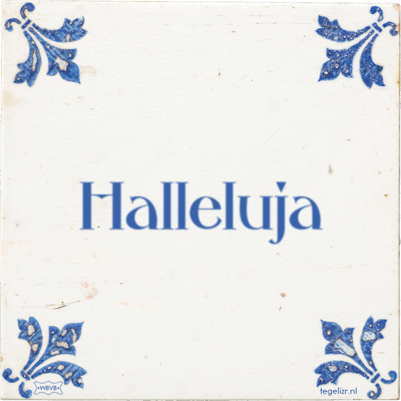 Halleluja - Online tegeltjes bakken