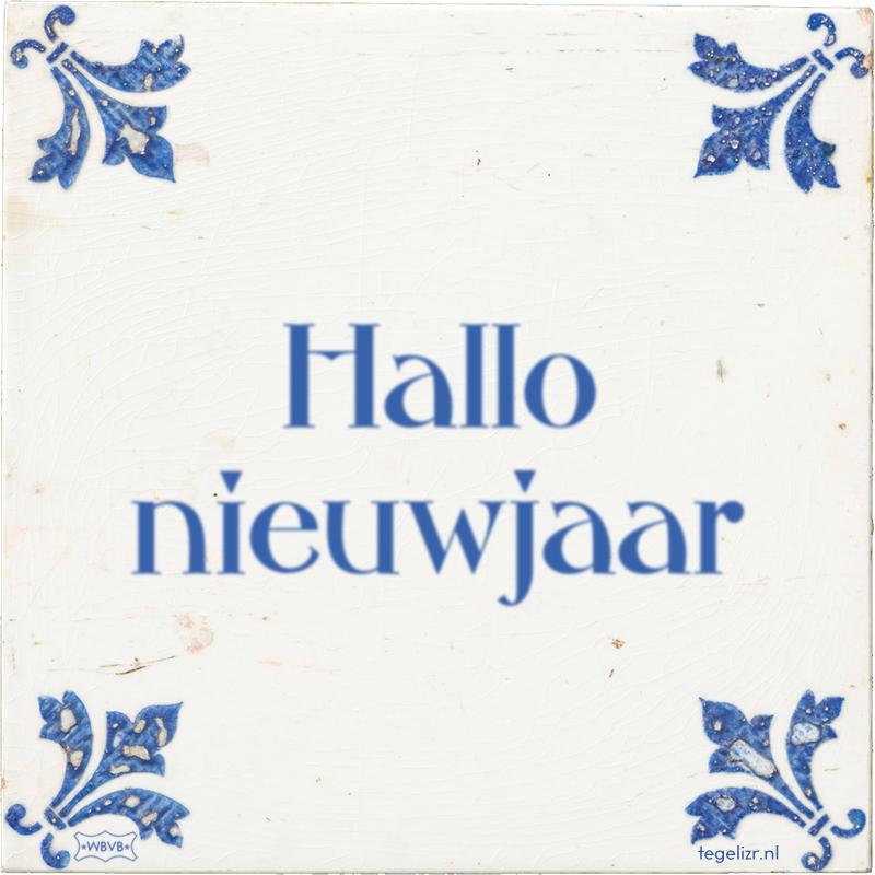 Hallo nieuwjaar - Online tegeltjes bakken