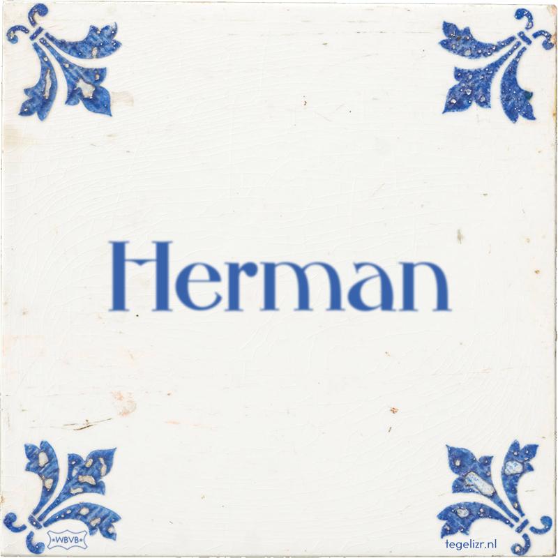 Herman - Online tegeltjes bakken