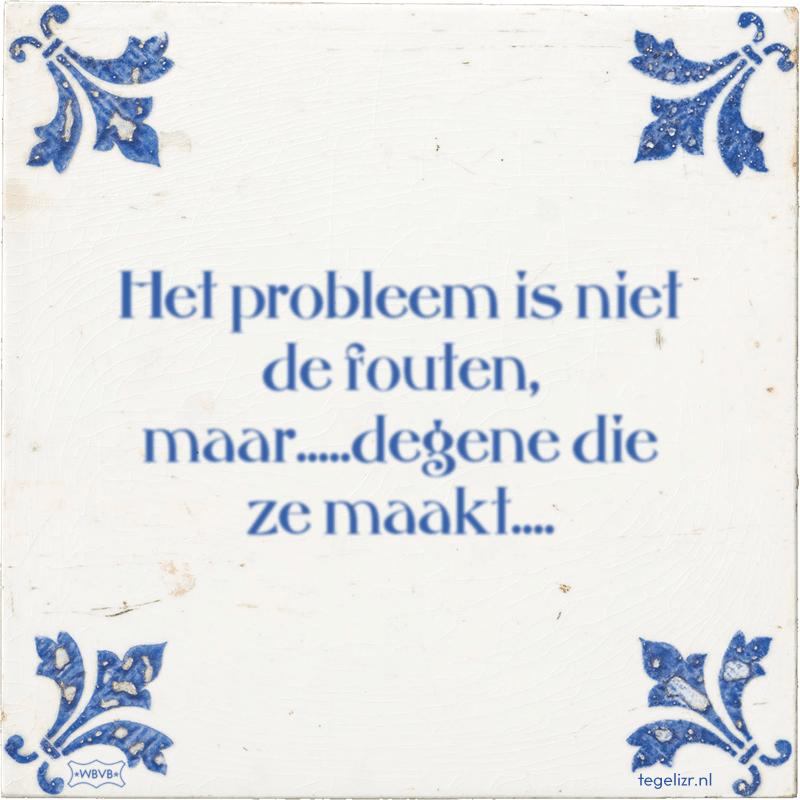 Het probleem is niet de fouten, maar.....degene die ze maakt.... - Online tegeltjes bakken
