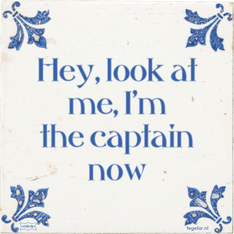 Hey, look at me, I'm the captain now - Online tegeltjes bakken