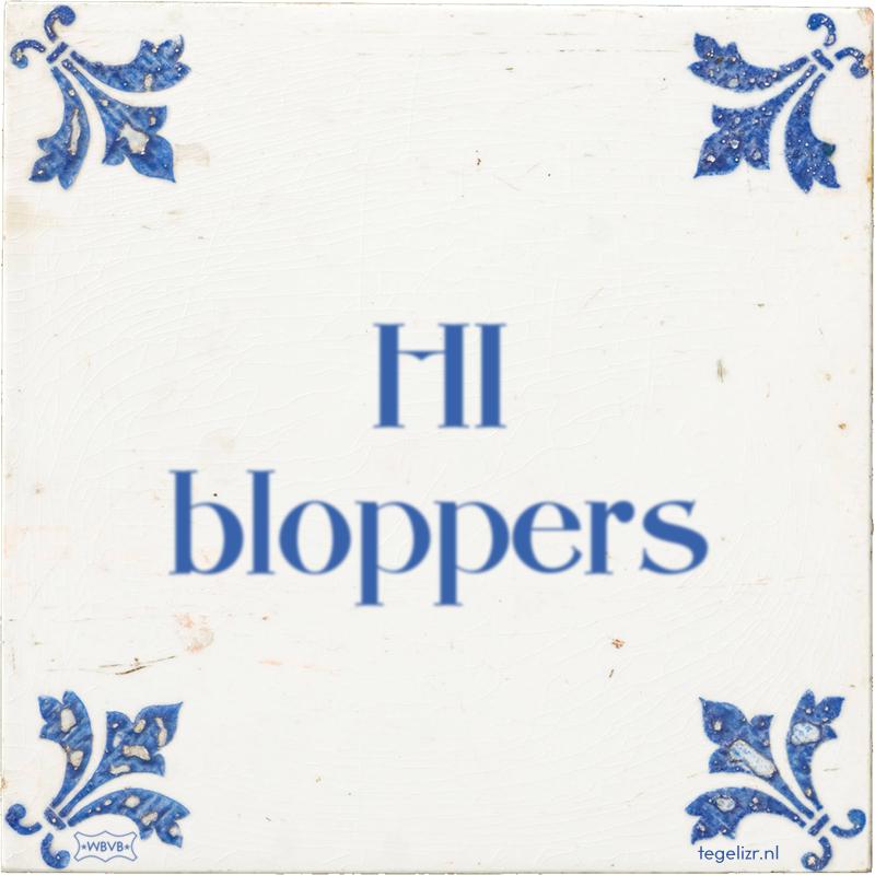 HI bloppers - Online tegeltjes bakken