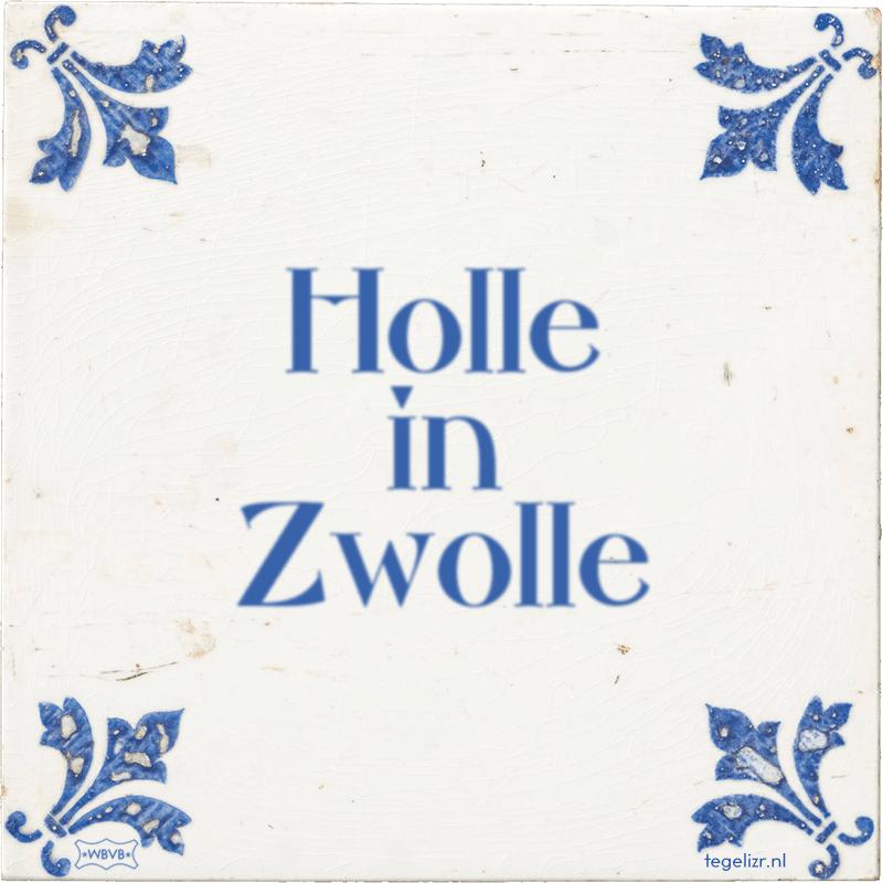 Holle in Zwolle - Online tegeltjes bakken