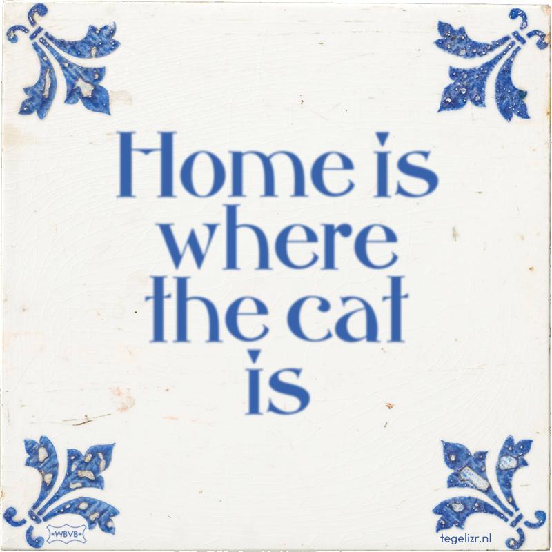 Home is where the cat is - Online tegeltjes bakken