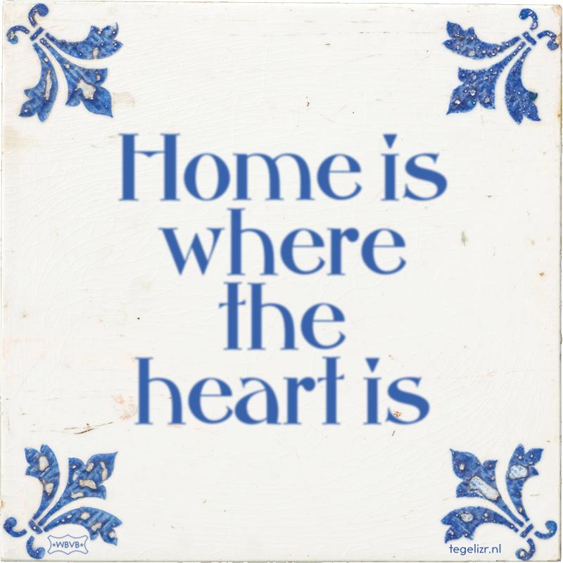 Home is where the heart is - Online tegeltjes bakken