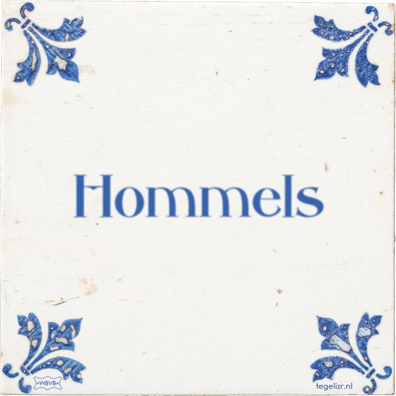 Hommels - Online tegeltjes bakken