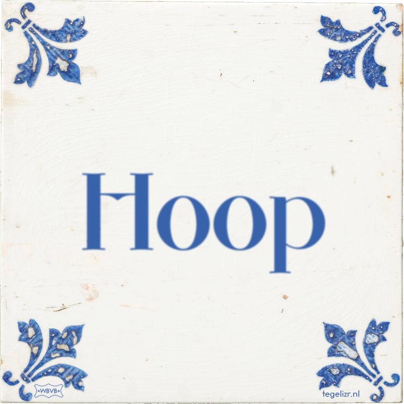 Hoop - Online tegeltjes bakken