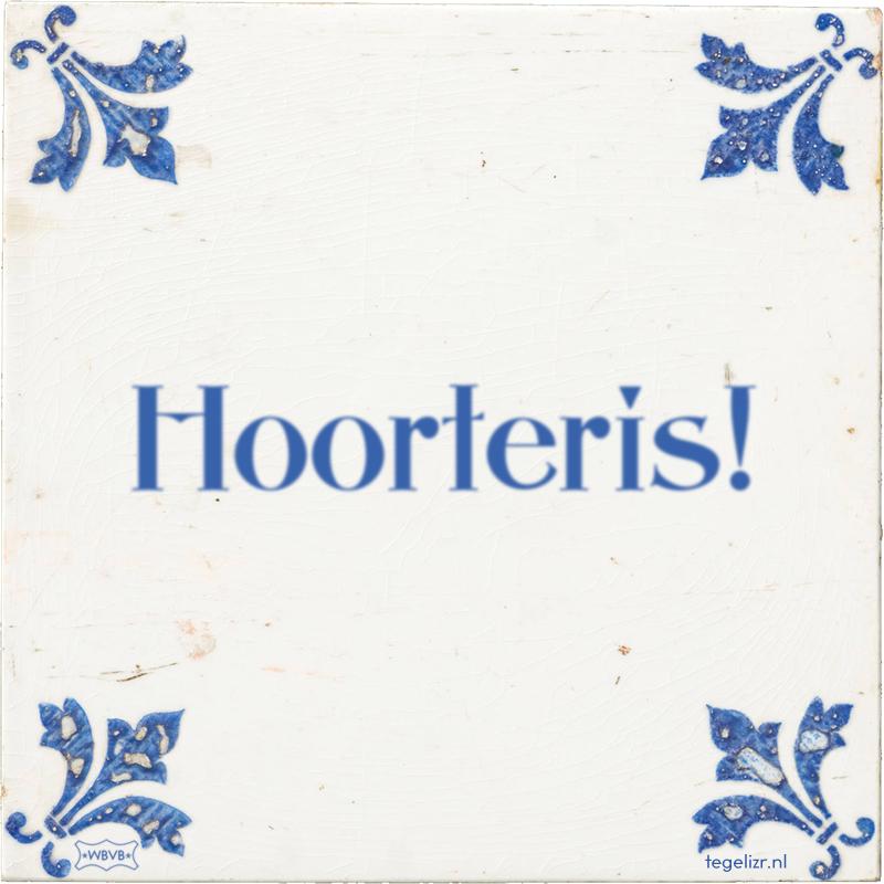 Hoorteris! - Online tegeltjes bakken