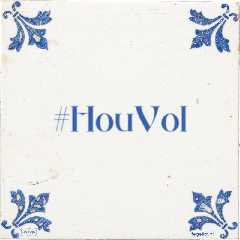 #HouVol - Online tegeltjes bakken