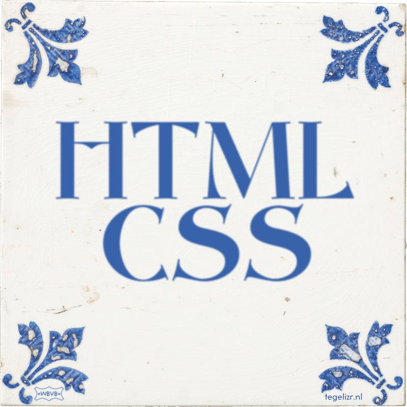 HTML CSS - Online tegeltjes bakken