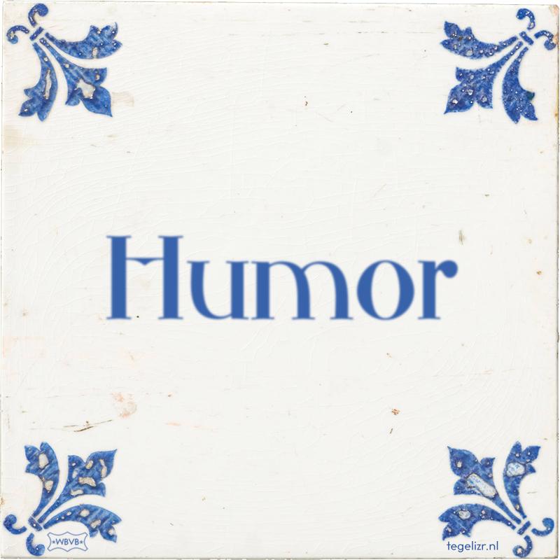 Humor - Online tegeltjes bakken