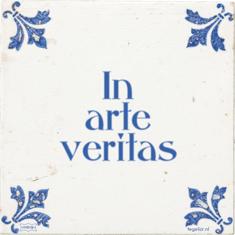 In arte veritas - Online tegeltjes bakken