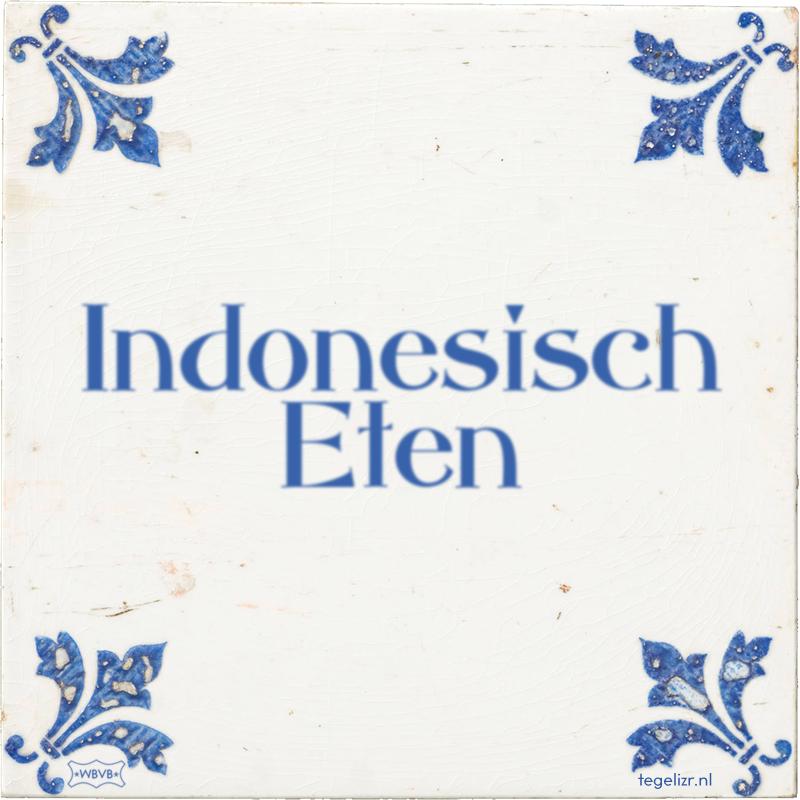 Indonesisch Eten - Online tegeltjes bakken